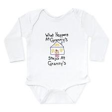 Granny's House Long Sleeve Infant Bodysuit