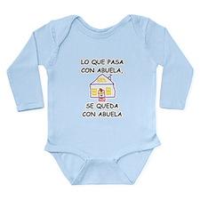 Con Abuela Long Sleeve Infant Bodysuit