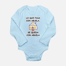 Con Abuela Long Sleeve Infant Bodysuit