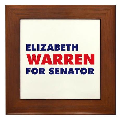 Warren for Senator Framed Tile