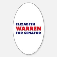 Warren for Senator Sticker (Oval)