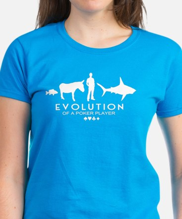 Evolution of a Poker Player Women's Dark T-Shirt