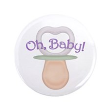 """Oh Baby! Pacifier Design 3.5"""" Button (100 pack)"""