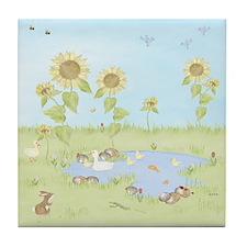 Sunflower - Duck Pond Tile Coaster