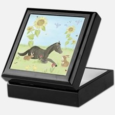 Sunflower - Horse Keepsake Box