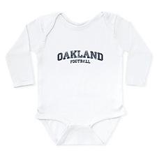 Oakland Football Long Sleeve Infant Bodysuit
