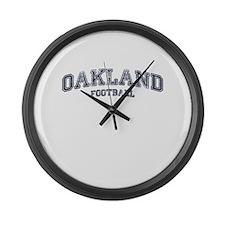 Oakland Football Large Wall Clock