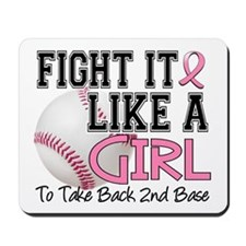 Second 2nd Base Breast Cancer Mousepad