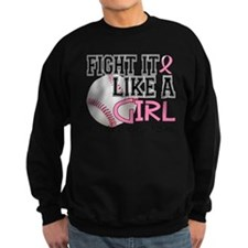 Second 2nd Base Breast Cancer Sweatshirt