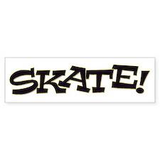 Skate Don't Hate Bumper Sticker