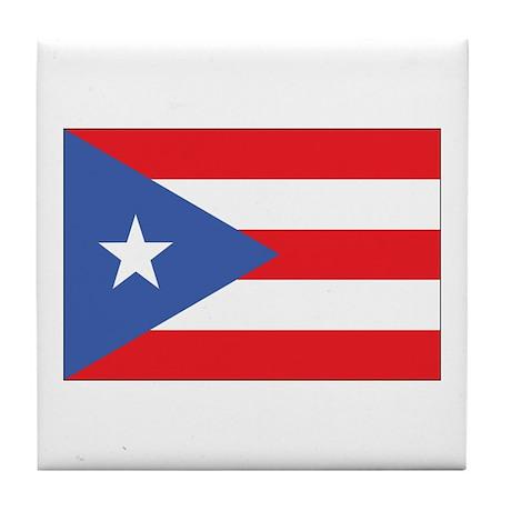 Puerto Rico Flag Tile Coaster
