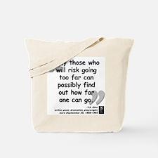 Eliot Risk Quote Tote Bag