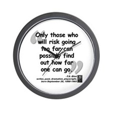 Eliot Risk Quote Wall Clock