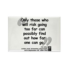 Eliot Risk Quote Rectangle Magnet