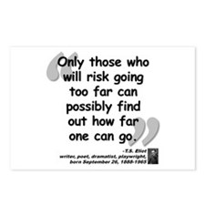 Eliot Risk Quote Postcards (Package of 8)