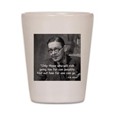 Eliot Risk Quote Shot Glass