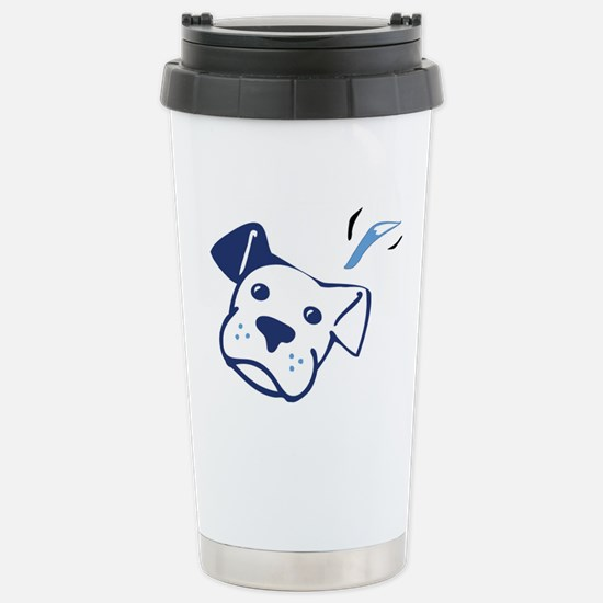 Blue BW Stainless Steel Travel Mug