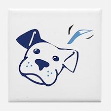 Blue BW Tile Coaster