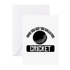 Got the balls for Cricket Greeting Cards (Pk of 20