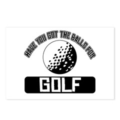 Got the balls for Golf Postcards (Package of 8)