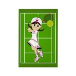 Cute Tennis Girl Magnet (10 Pk)