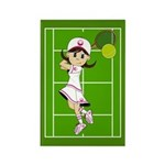 Cute Tennis Girl Magnet