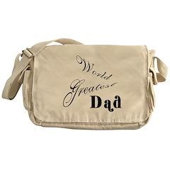 World greatest Dad Messenger Bag
