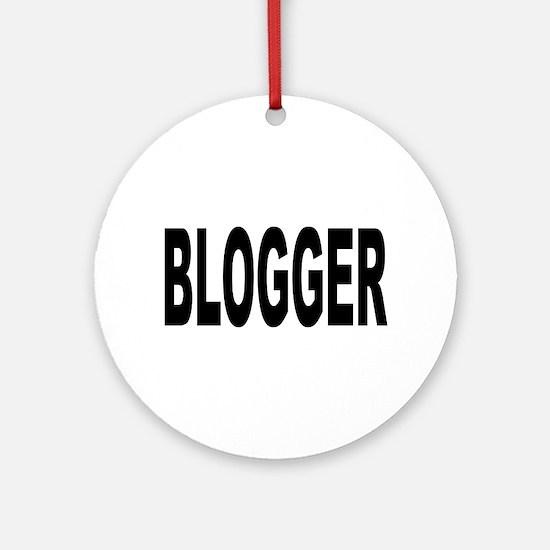 Blogger Ornament (Round)