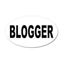 Blogger 22x14 Oval Wall Peel