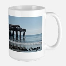Tybee Island Georgia 17 Large Mug