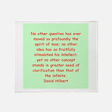 David Hilbert Throw Blanket