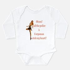 oh no corpsman Long Sleeve Infant Bodysuit
