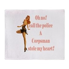 oh no corpsman Throw Blanket