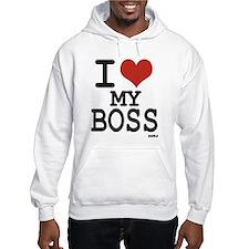 I love my boss Hoodie