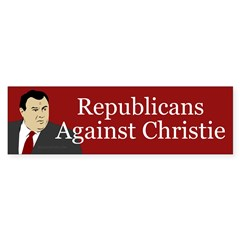 Republicans Against Christie bumper sticker