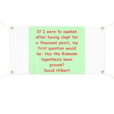David Hilbert Banner