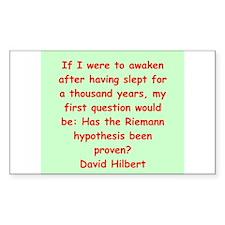 David Hilbert Decal