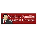 Working Families Against Christie sticker