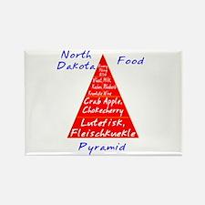 North Dakota Food Pyramid Rectangle Magnet
