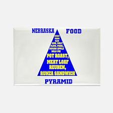 Nebraska Food Pyramid Rectangle Magnet