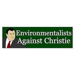 Environmentalists Against Christie sticker