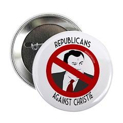 Republicans Against Chris Christie button