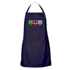 Peace Love Penguins Apron (dark)