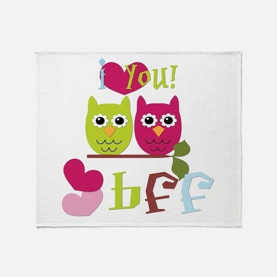 BFF Love Throw Blanket