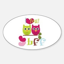 BFF Love Sticker (Oval)