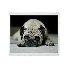 Sad Pug Throw Blanket