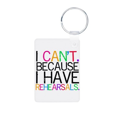 Rehearsals (color) Aluminum Photo Keychain