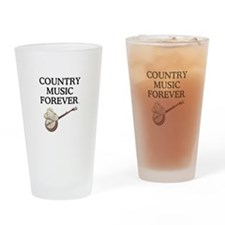 Country Music Forever Drinking Glass