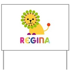 Regina the Lion Yard Sign