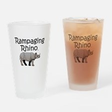 Rampaging Rhino Drinking Glass